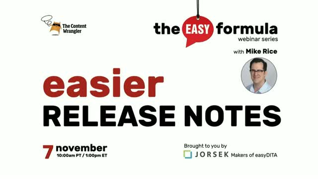 The Easy Formula — Easier Release Notes