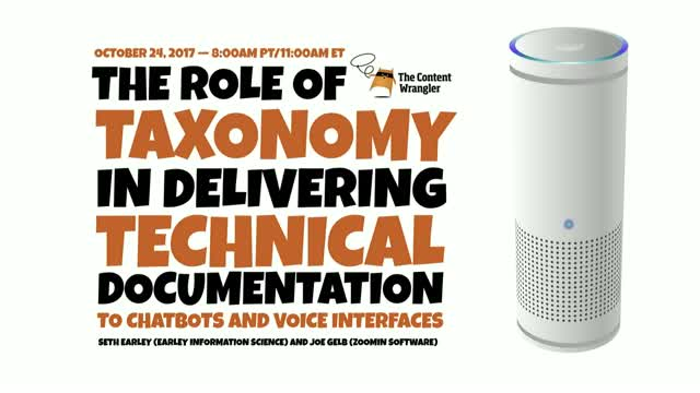 The Role of Taxonomy in Delivering Tech Docs to Chatbots and Voice Interfaces