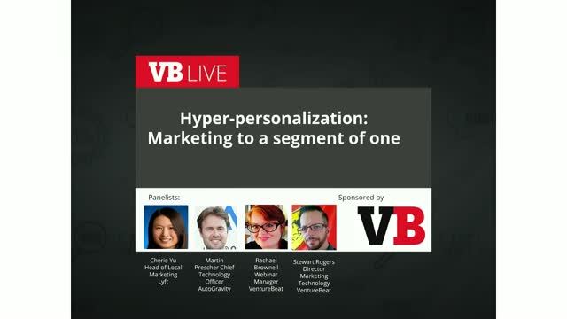 Hyper-personalization: Marketing to a segment of one