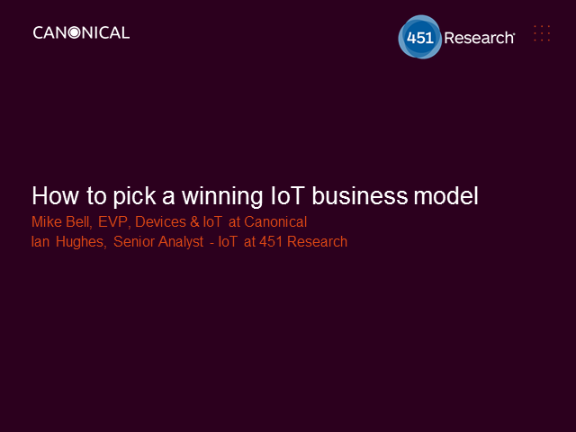 How to pick a winning IoT business model