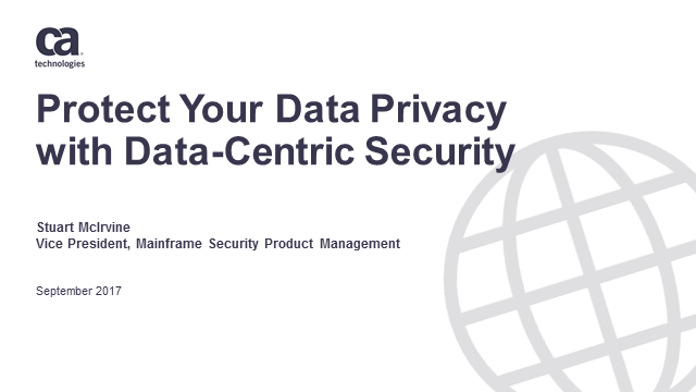 Protect Your Data Privacy with Data-Centric Security