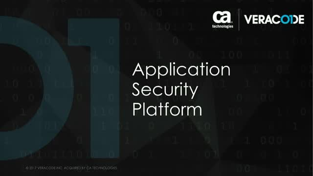 Build secure software and manage application risk with the Veracode platform