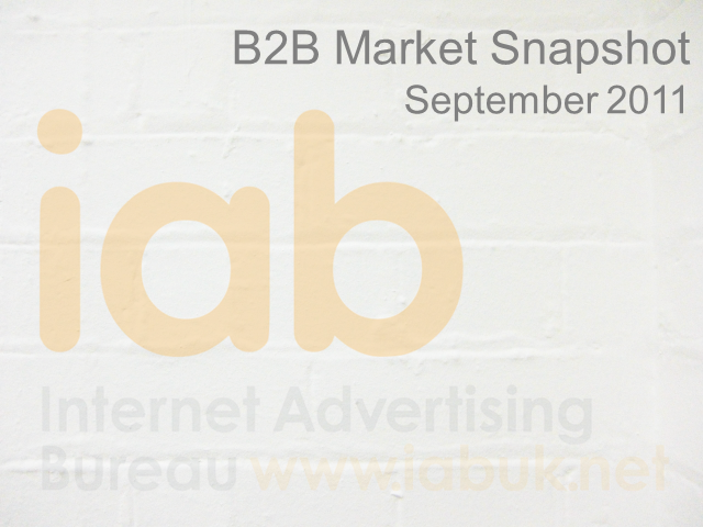 2011 IAB B2B Marketing Outlook Study