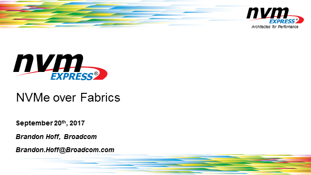 NVMe over Fabrics: Market Uptake, Benefits and Use Cases