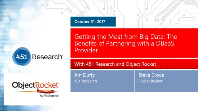 Getting the Most from Big Data: The Benefits of Partnering with a DBaaS Provider