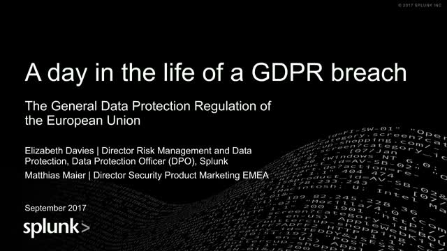 A day in the life of a GDPR breach