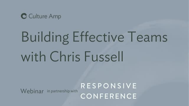 Building Effective Teams with Chris Fussell