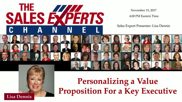 Personalizing a Value Proposition for a Key Executive
