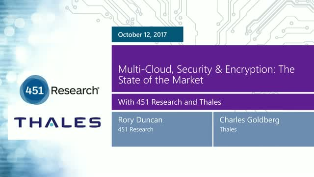 Multi-Cloud, Security & Encryption: The State of the Market