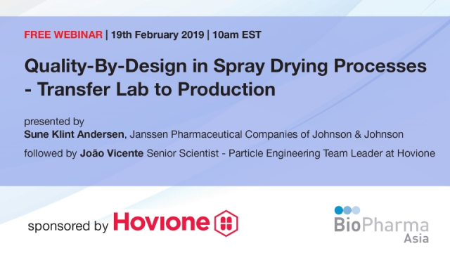 Quality-By-Design in Spray Drying Processes - Transfer Lab to Production