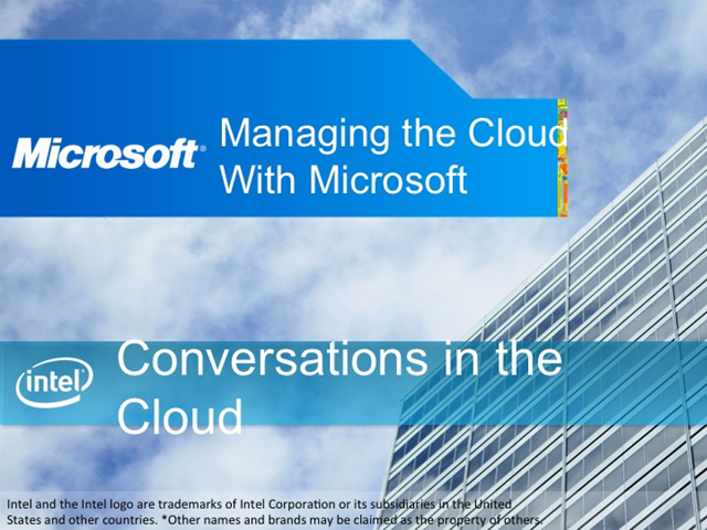 Conversations in the Cloud: Managing the Cloud with Microsoft