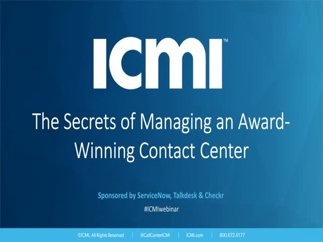 The Secrets of Managing an Award-Winning Contact Center
