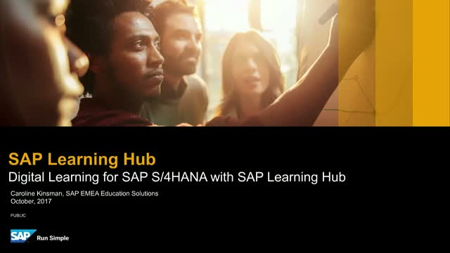 Digital Learning for SAP S/4HANA with SAP Learning Hub