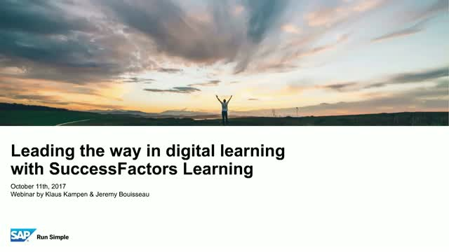 Leading the Way in Digital Learning with SuccessFactors Learning