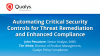 Automating Critical Security Controls for Threat Remediation and Compliance