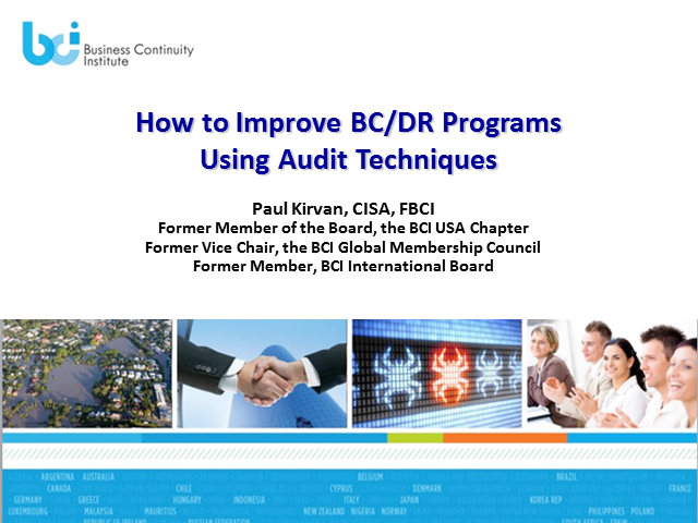 How to Improve BC/DR Programs by Auditing