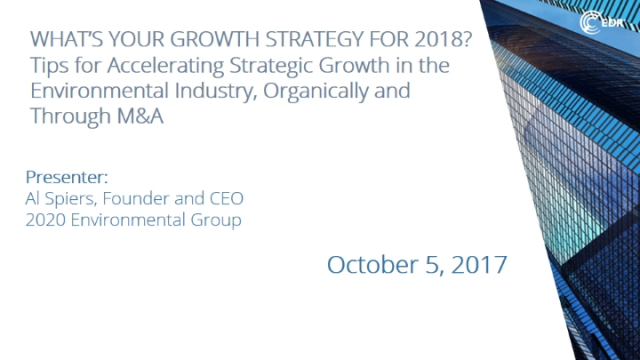 What's Your Growth Strategy for 2018?