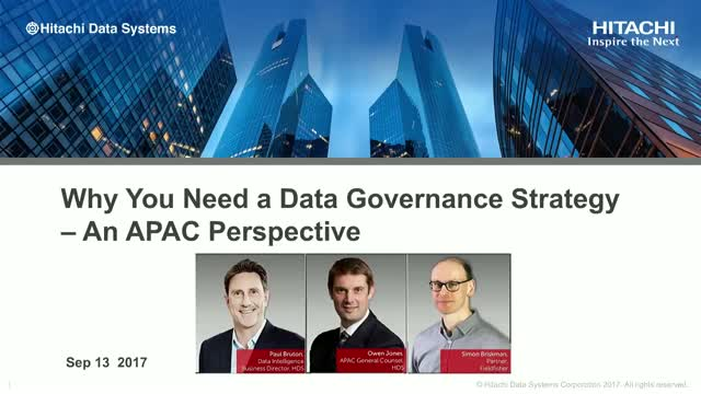 Why You Need a Data Governance Strategy – an APAC Perspective