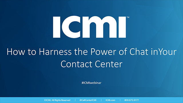 How to Harness the Power of Chat in Your Contact Center