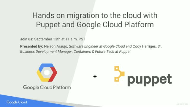 Hands on migration to the cloud with Puppet and Google Cloud Platform