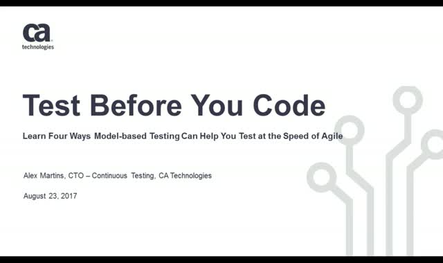 Test Before You Code