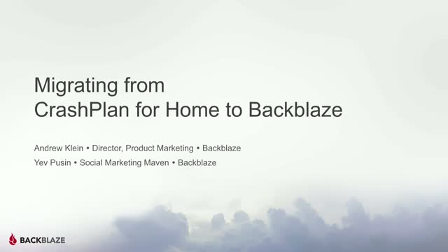 Migrating from CrashPlan for Home to Backblaze