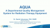AQUA: a departmental quality-management system for radiation-therapy equipment