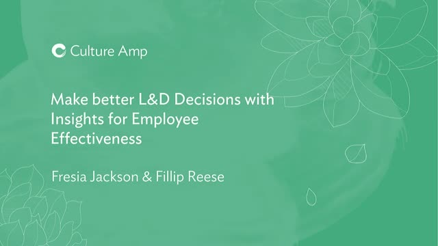 Make better L&D Decisions with Insights for Employee Effectiveness