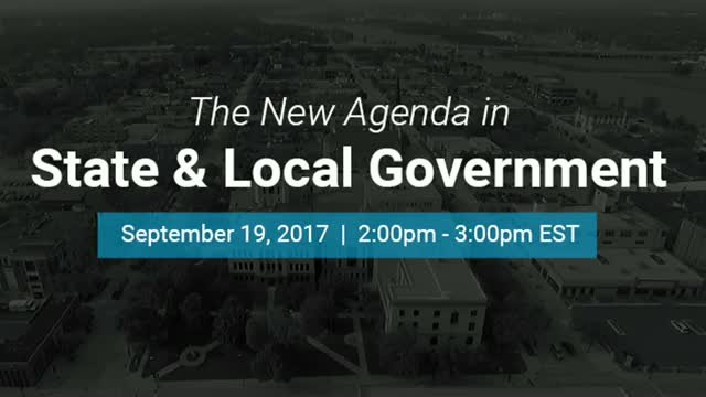 The New Agenda in State and Local Government