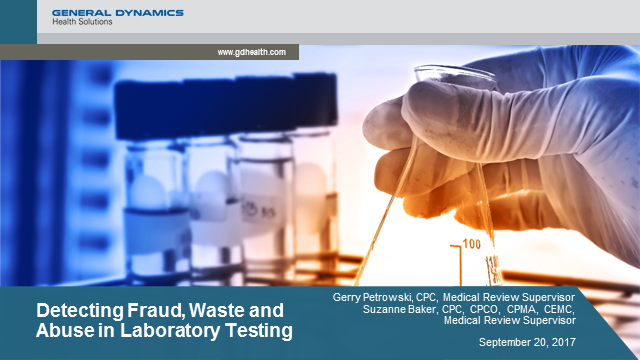 Detecting Fraud, Waste and Abuse in Laboratory Testing