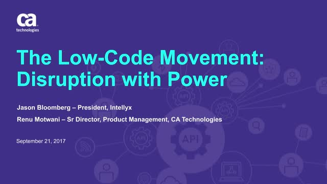 The Low Code Movement – Disruption with Power