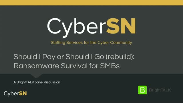 Should I Pay or Should I Go (rebuild): Ransomware Survival for SMBs