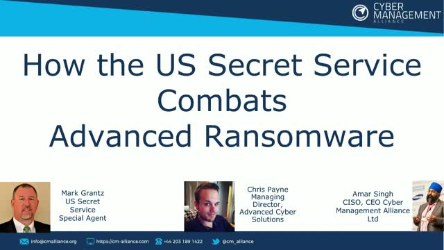 How the US Secret Service combats advanced ransomware