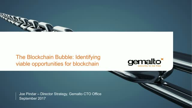The Blockchain Bubble: Identifying viable  opportunities for blockchain