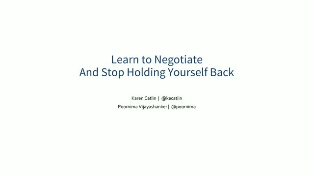 Learn to Negotiate And Stop Holding Yourself Back
