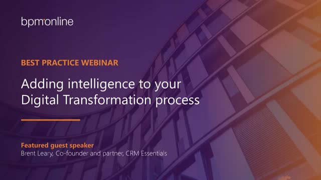 Adding intelligence to your Digital Transformation process