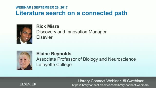 Literature search on a connected path