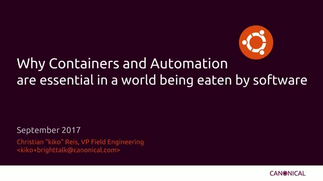 Why containers and automation are essential in a world being eaten by software