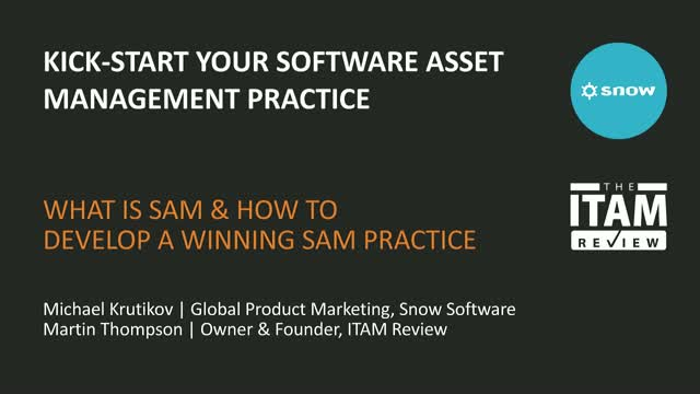 Kick-Start your Software Asset Management Practice