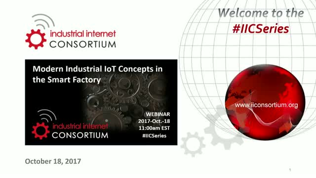 Modern Industrial IoT Concepts in the Smart Factory