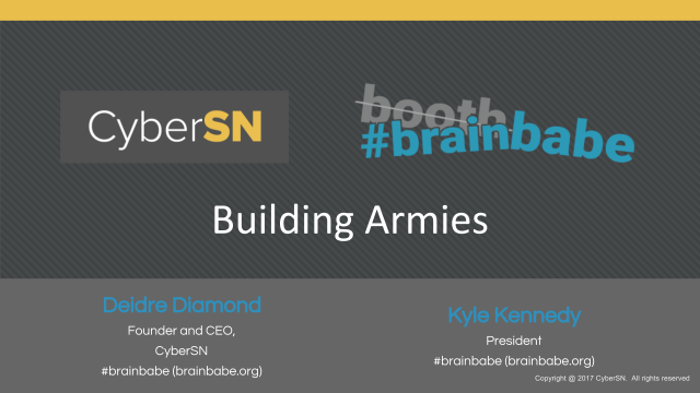 Building Armies - Creating a Culture of Inclusion in Cybersecurity