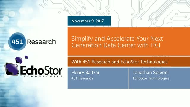 Simplify and Accelerate Your Next Generation Data Center with HCI