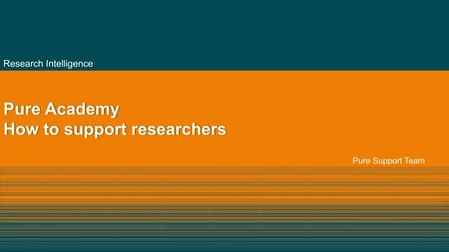 Pure Basics: How to support researchers