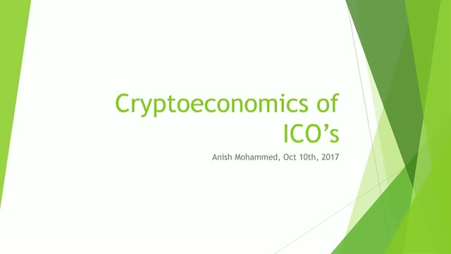 The End of Venture Capital - Cryptoeconomics of an ICO