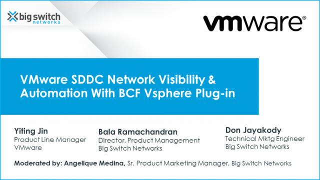 VMware SDDC Network Visibility & Automation with BCF vSphere Plugin