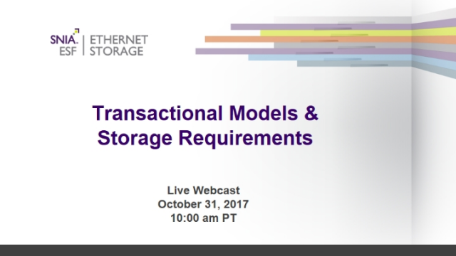 Transactional Models & Their Storage Requirements
