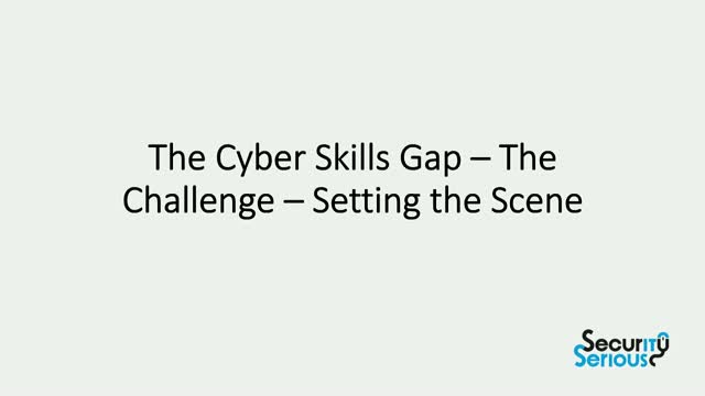 The Cyber Skills Gap – The Challenge – Setting the Scene