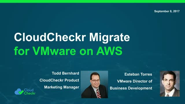 Migrate to VMware on AWS