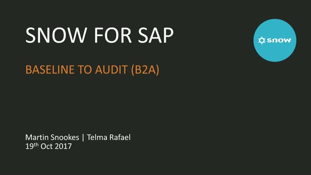 From Baseline to Audit - optimise your SAP licenses