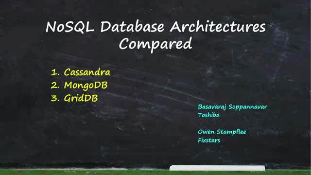 NoSQL Database Architectures Compared